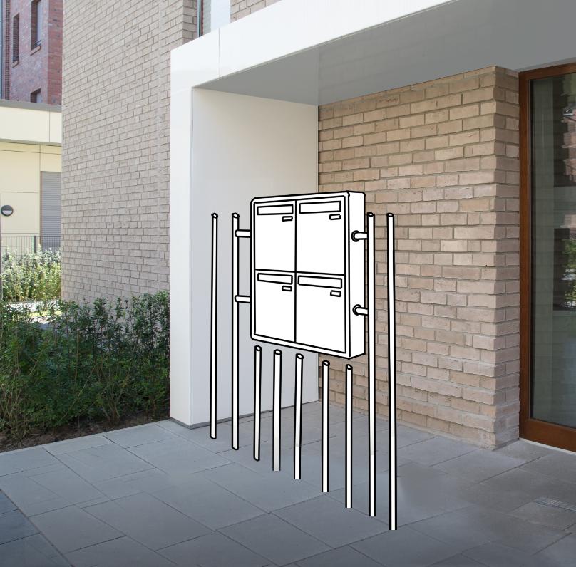 Zaun-Briefkastenanlagen Online Konfigurator von Max Knobloch